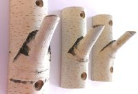 3 . Natural Branch Wall Hooks, Rustic Wooden Coat Hooks ...
