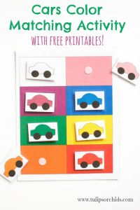 Cars Color Matching Activity {Free Printables} - Tulips ...