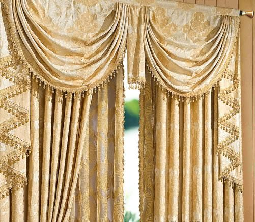 Heavy Textured Jacquard Floral Waterfall Valance $109.99