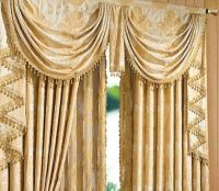 Heavy Textured Jacquard Floral Waterfall Valance $109.99 ...