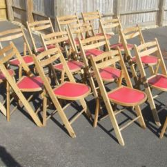 Folding Chair Job Lot Small Unusual Chairs Vintage Cafe Pub Chapel Solid Ash Frames Bargain 15 X