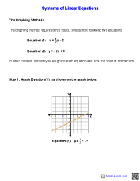 Handout for Systems of Equations and Inequalities ...