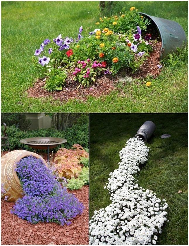 Cool Spilled Flower Beds Gardening !dea Pinterest Gardens