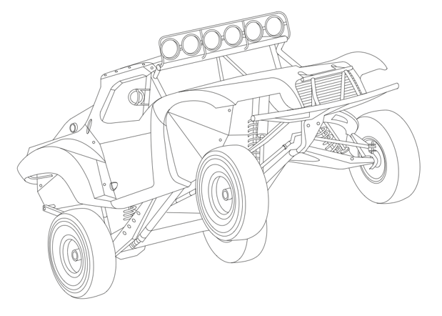 Ford Raptor Trophy Truck Coloring Pages