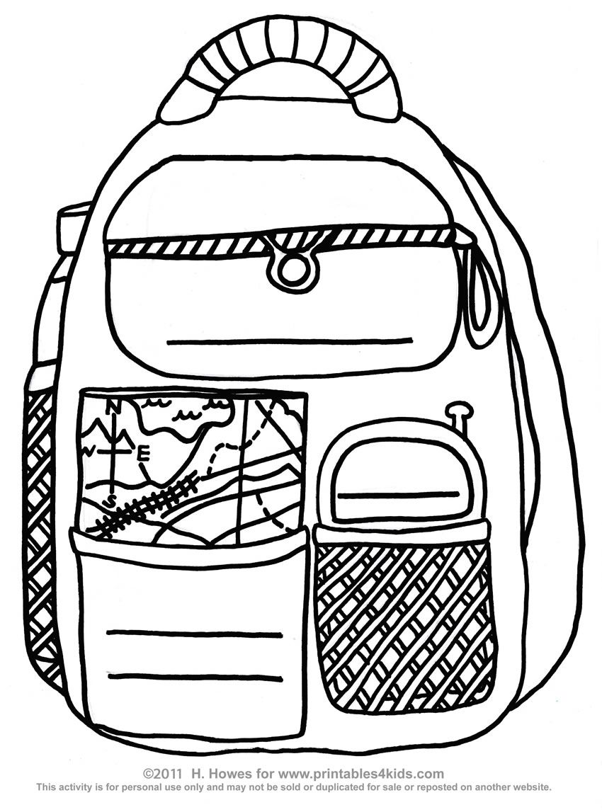 Backpack worksheet = place to practice copy work [printing
