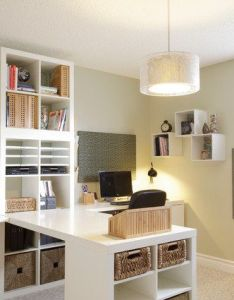 Traditional home office craft room design pictures remodel decor and ideas page ikea expedit adobe   offices vintage oversized mirr also basement petworth house pinterest designs rh
