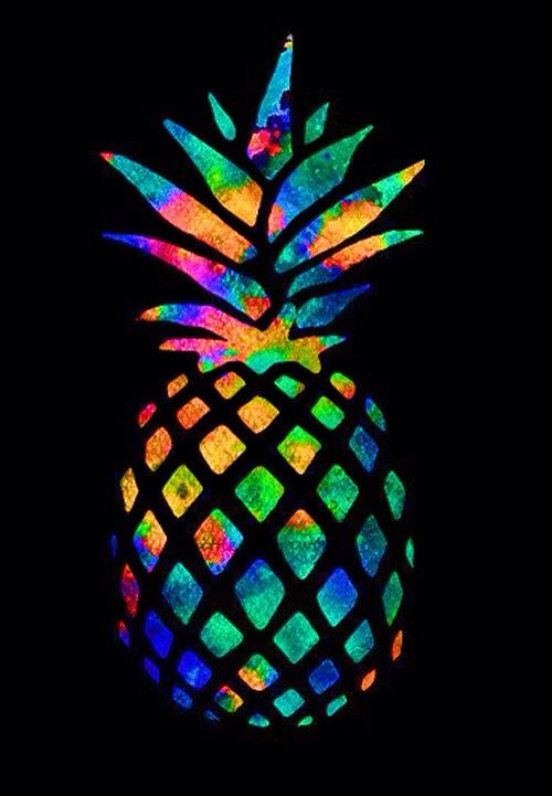 Cute Pineapple Iphone Wallpaper Wallpaper For Iphone Of An Colorful Pineapple Iphone
