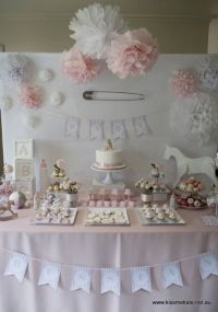 17. Baby Pink and #White - 27 Super Cute Baby #Shower ...
