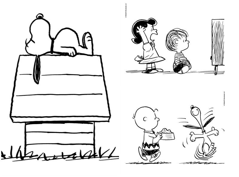 Snoopy Dog House Page Coloring Pages