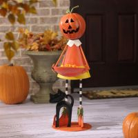 Pumpkin Girl Metal Candy Holder   Candy bowl, Spooky ...