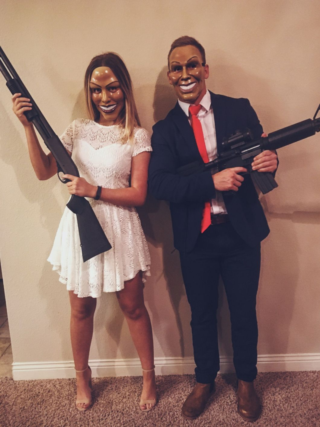 the purge couples costume halloween pinte
