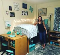 Tiffany blue Baylor University dorm room. | Baylor Dorm ...