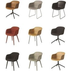 Saddle Office Chair West Elm Cover Rentals Ma Muuto - Fiber Cognac Leather Sled Base   Cool Furniture Pinterest