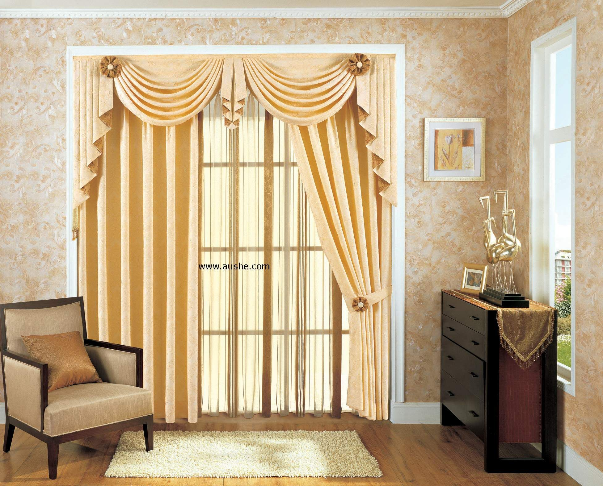 Interior Elegant Curtains For Living Room Offers Magnetizing