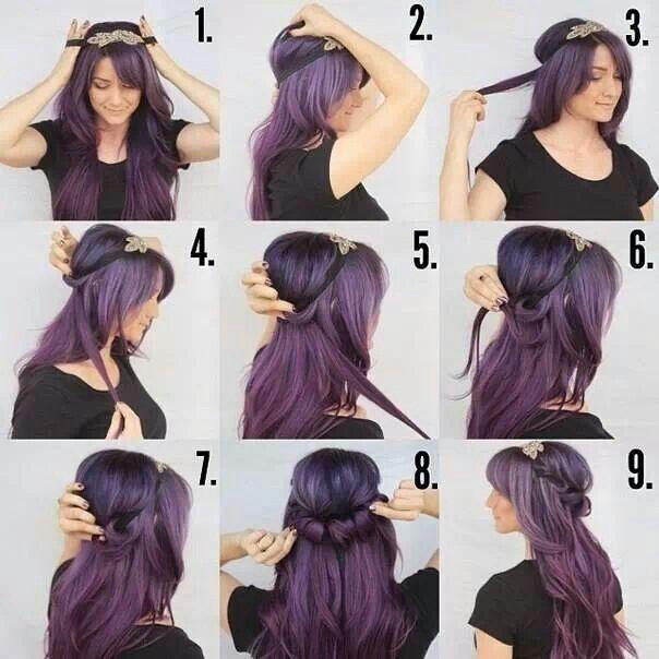 Cute Headband Hairstyle Hair Styles Hairdos With Headbands