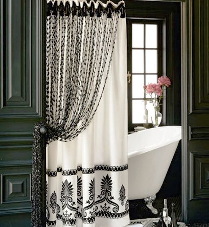Cool Shower Curtains For Your Modern Bathroom Beautiful Double