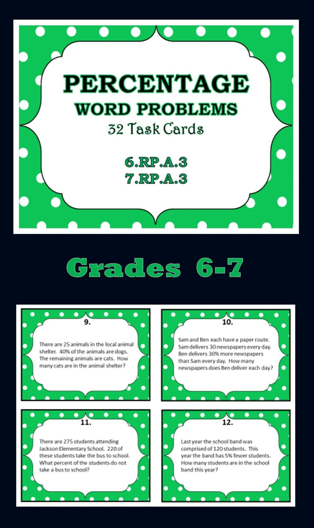 medium resolution of Word Problems For 6th Graders