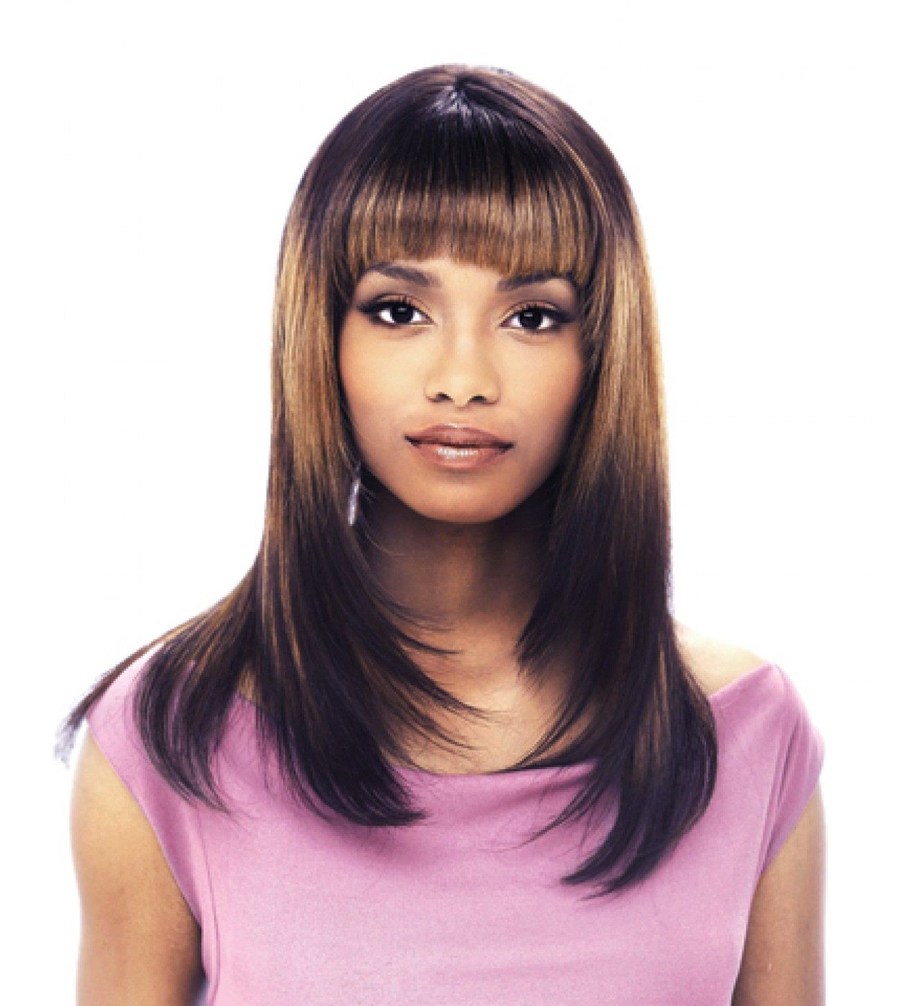 Black Straight Hair Weaves Straight Weave Hairstyles With Bangs