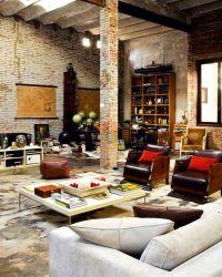 rustic-modern loft. I love the industrial feel/look of a ...