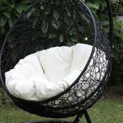 Egg Chair Stand Australia White Butterfly Skycarte Black Hanging With Plush Cushion