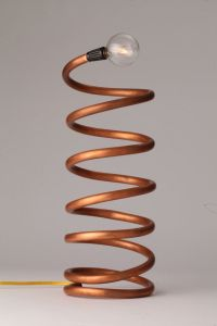 Helix Copper Coil Spiral Copper Tube Lamp by