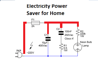 Electricity Power Saver Circuit Diagram For Your Home Application