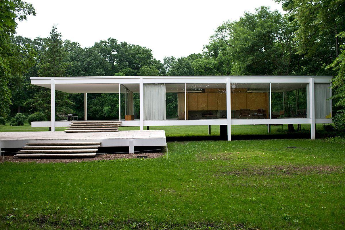 Casa Farnsworth 1951  AD Espaa  Cordon Tres planos paralelos terraza suelo y cubierta
