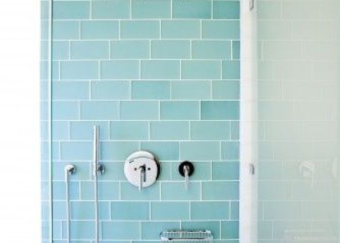 love turquoise blue glass subway with white surrounding the issue if you don   like any is that most tiles have also placid inspiration in bathroom home interior beaches