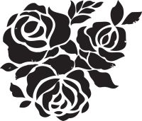 Rose Flower Stencils Printable for Decoration | Activity ...