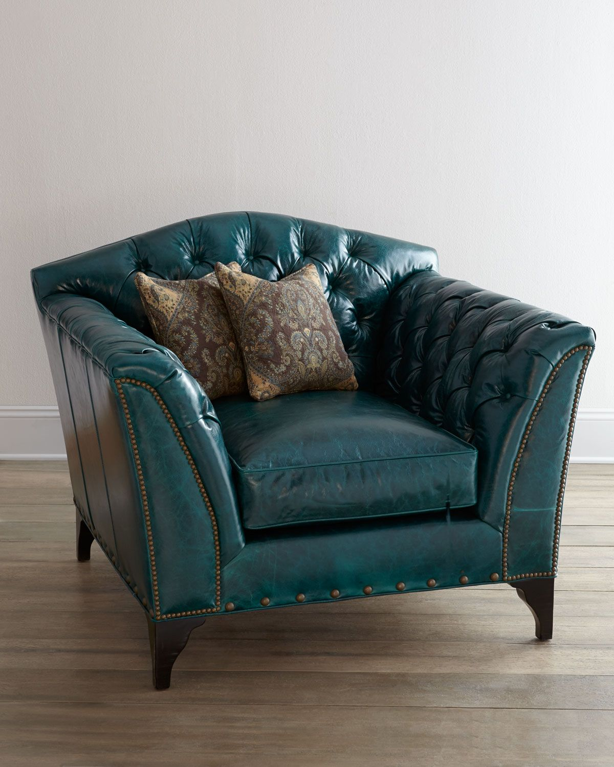 turquoise leather chair and ottoman simply elegant covers linens old hickory tannery quotmontana quot via neiman marcus