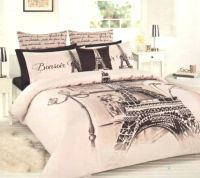 ** Paris Themed Full Bedding | PARIS BONSOIR - EIFFEL ...