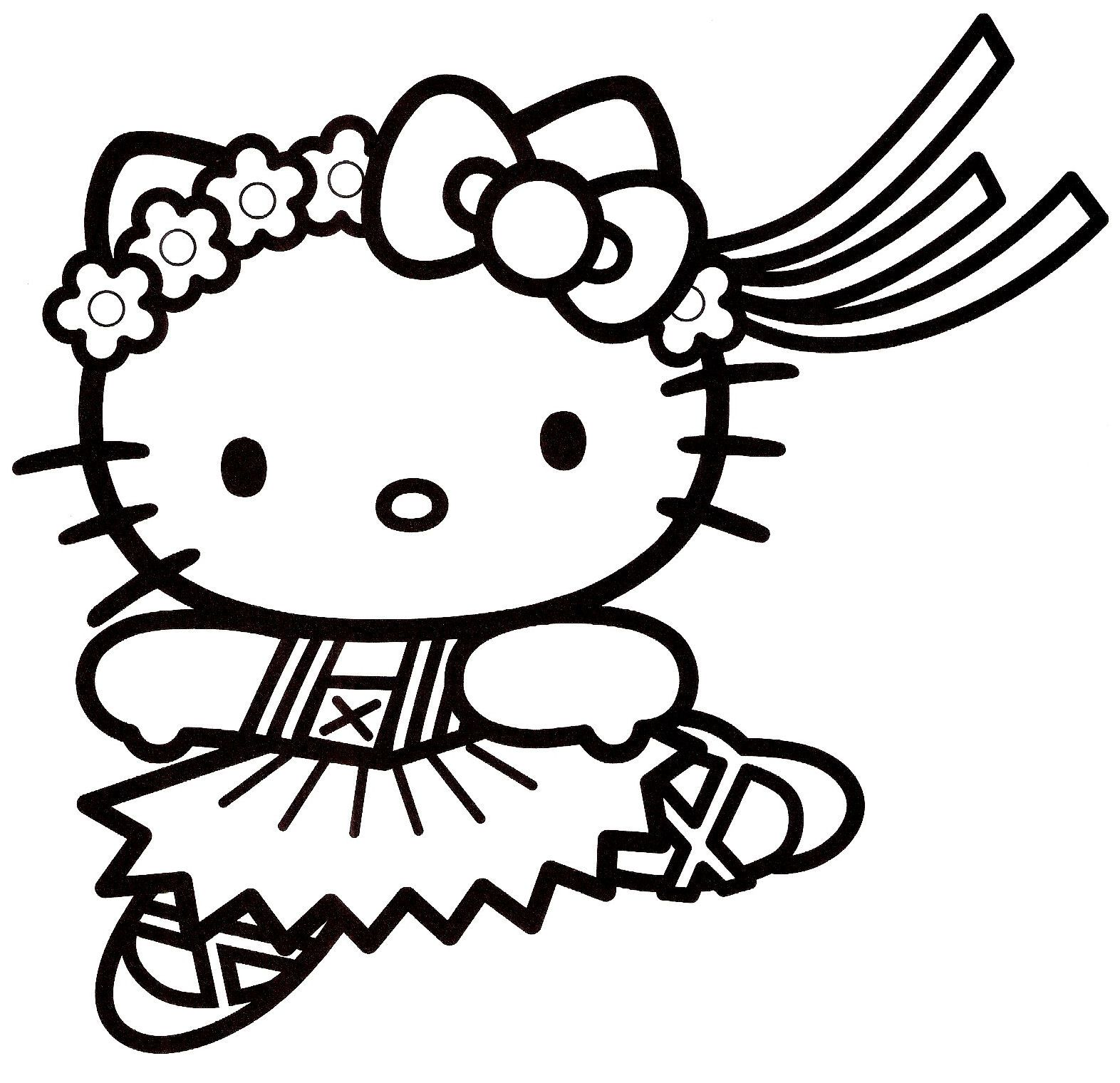 Coloriage Hello Kitty A Colorier