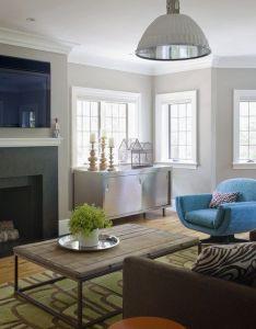 Eclectic modern tudor family room also interior imaginations rh pinterest
