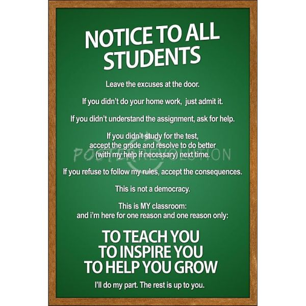 Classroom Rules for Middle School Students
