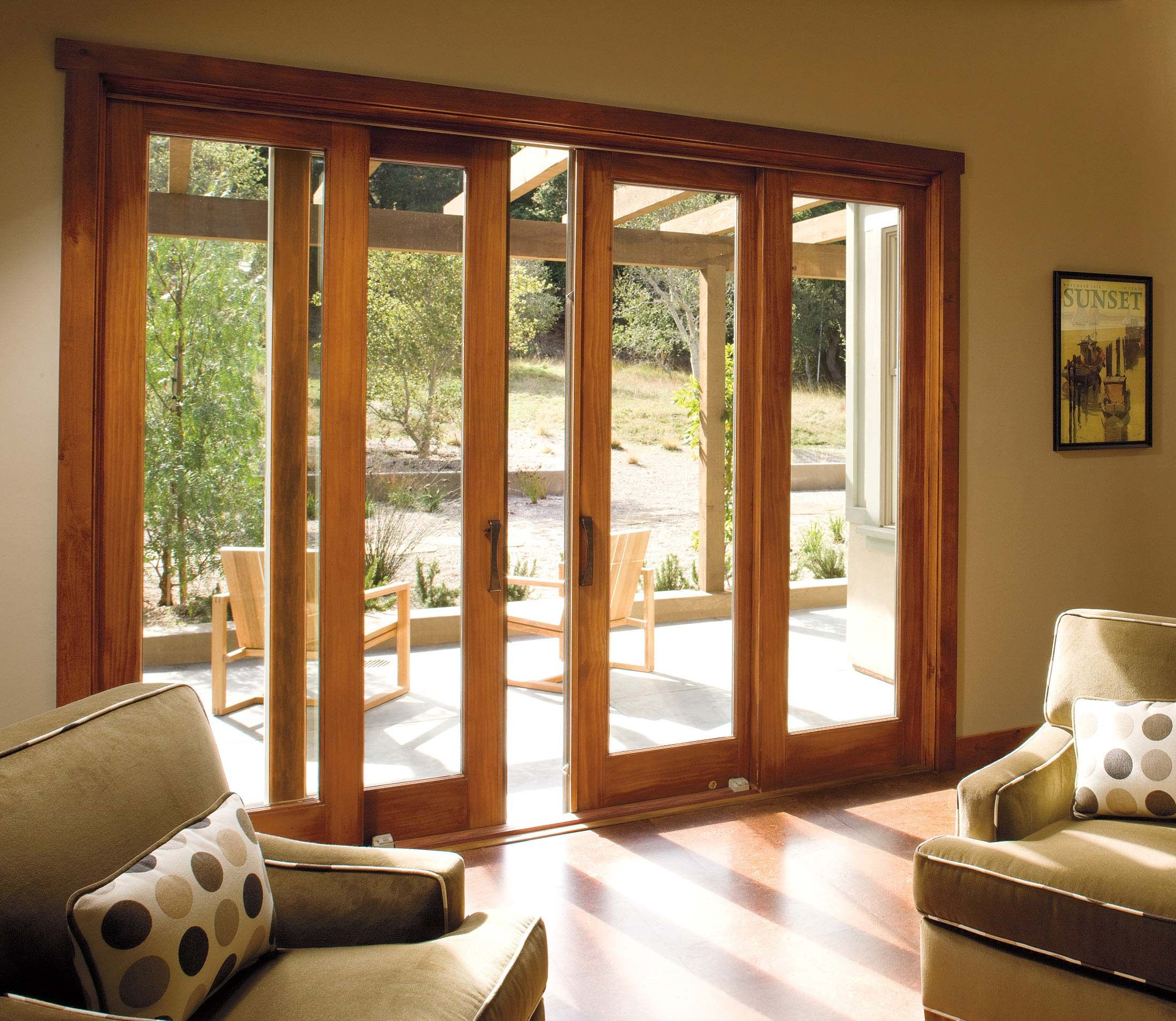 Sliding doors in living room but with another set of