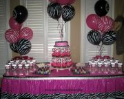 Pink and Zebra Print Birthday Party Ideas
