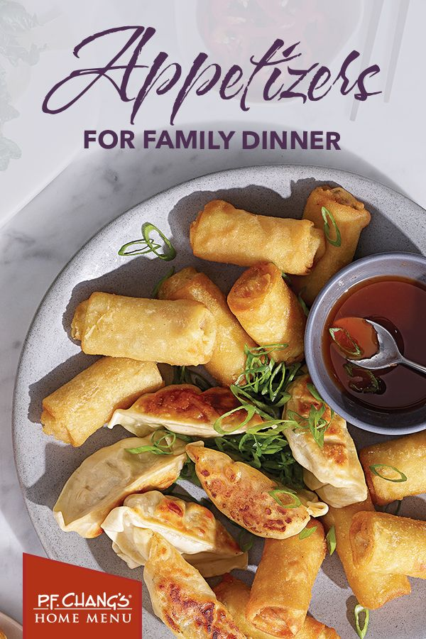 No babysitter. no problem! Enjoy a family-style happy hour at home with PF Chang's Home Menu appetizers like tender Pork Dumplings and Vegetable ...