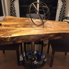 Rustic Sofa Table Canada Large Pillows For Back Live Edge Tables Wood With Metal Legs