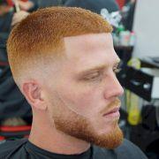 short haircuts men fade buzz