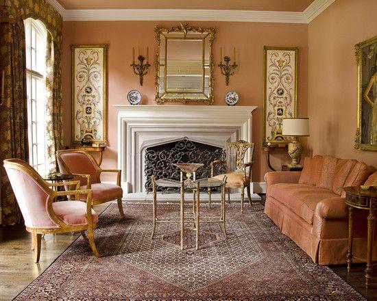 Living Room Peach Sofa Design Pictures Remodel Decor