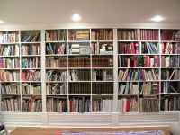Gorgeous White Wooden Built In Large Bookshelf Ideas For ...