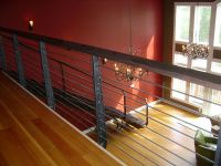 Contemporary horizontal iron railings and staircase made ...