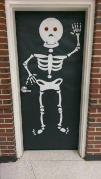 Skeleton Halloween classroom door decoration | Bulletin ...