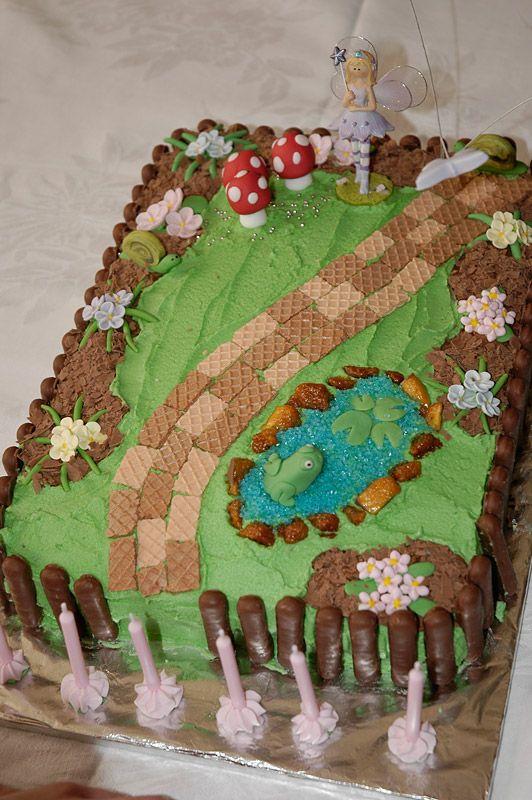 Enchanted Fairy Garden Cake Cake Creations Pinterest Fairy