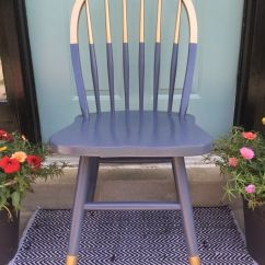Diy Painted Windsor Chairs For Home Gilded Gold Navy Blue Chair. A Little Bit Dipped Style Need Color Blocking. Love ...