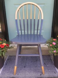 Gilded gold painted navy blue chair. A little bit gold ...