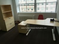 ikea bekant office desk, galant file cabinet and storage ...