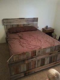 Old barn door headboard. With matching footboard from old ...
