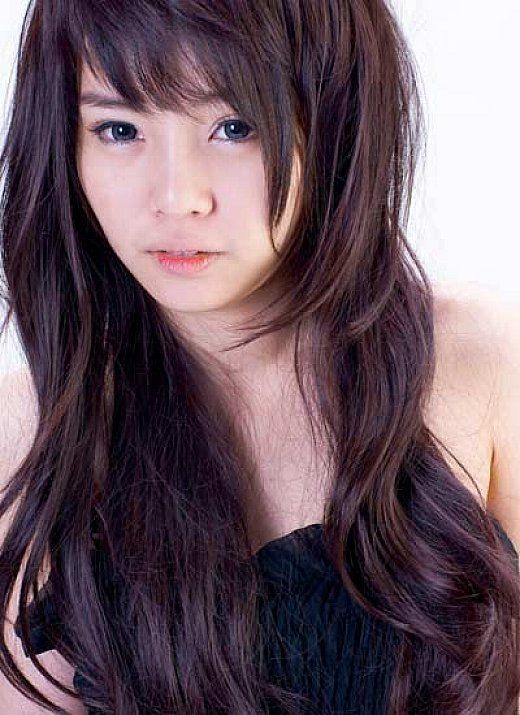 Asian Teenage Cute Hairstyles With Bangs And Layers For Long Wavy