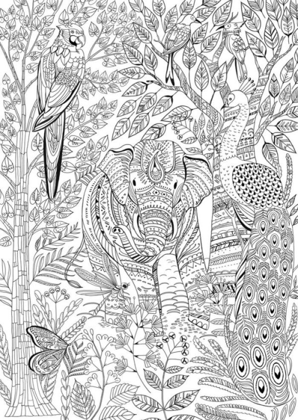 20+ Mandala Coloring Pages Animal Kingdom Ideas and Designs